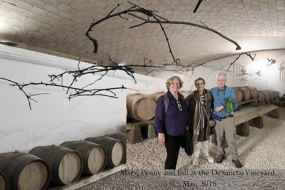 Mary Pen Bill at the deSanctis vineyard